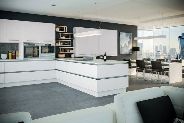 Firbeck Supermatt White Kitchen