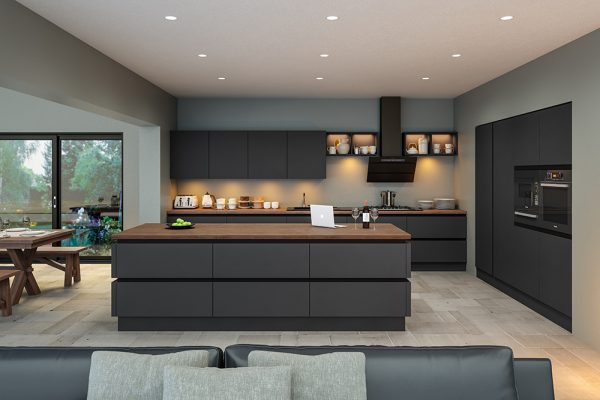 Supermatt Graphite Kitchen