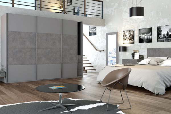 URBAN ANTHRACITE FABRIC METAL & SMOOTH DUST GREY